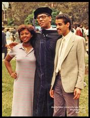 Alison, me, Scott, 1984. Law school graduation. Washington, DC